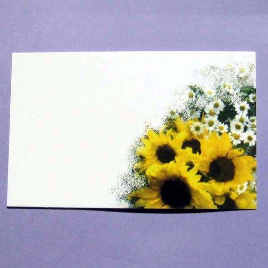 Sunflowers and Daisies Mini-Notecard