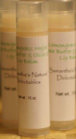 Lemongrass Mojito Shea Butter & Olive Oil Lip Balm Tube