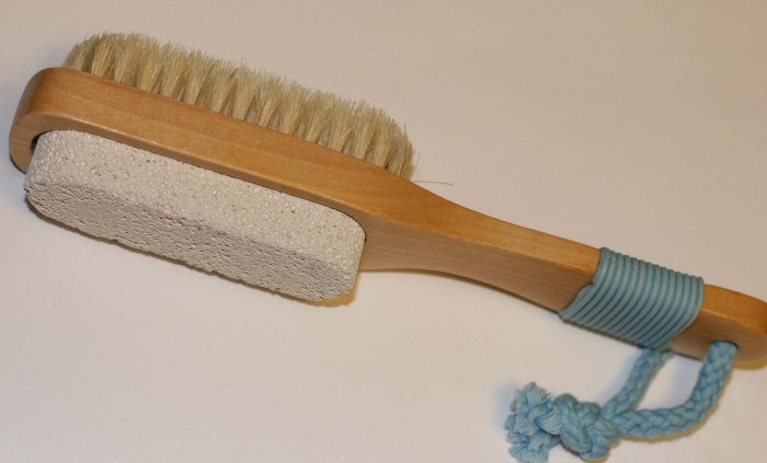 Pumice Brush With Natural Bristles