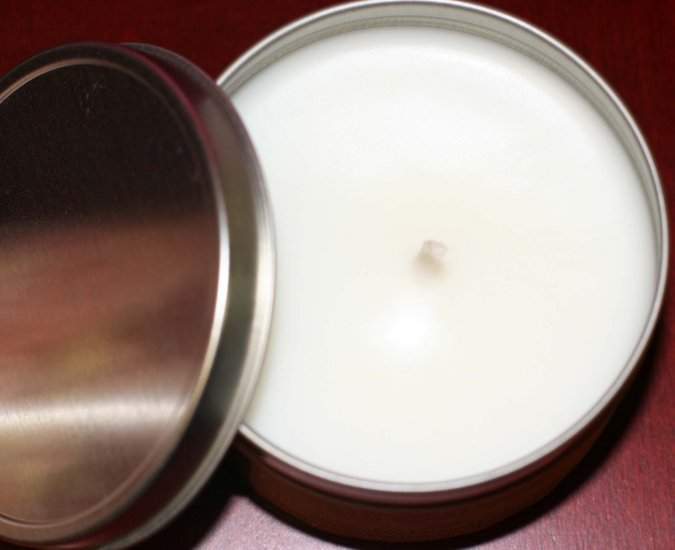 Lychee Rasberry Soy Blend Handcrafted Candle in Tin