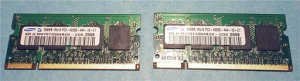 Lot of 2 Samsung DDR2 533MHz PC2 4200S CL4 Laptop Memory