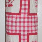 Plastic bag holder - Grocery bag recycler - Large - Pink Cows