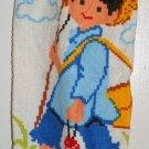 Plastic bag holder - Grocery bag recycler - Large - Colorful fishing boy
