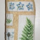 Plastic bag holder - Grocery bag recycler - Small - Ferns and Flowers