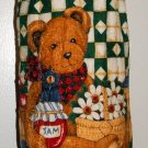 Plastic bag holder - Grocery bag recycler - Small - Teddy bear and honey pot