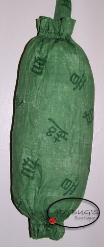 Plastic bag holder - Grocery bag recycler - Small - Jade oriental letters