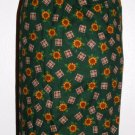 Plastic bag holder - Grocery bag recycler - Small sunflowers on green