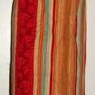 Plastic bag holder - Grocery bag recycler - Small - Earth tones stripes
