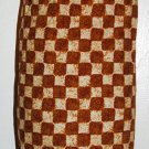 Plastic bag holder - Grocery bag recycler - Small - Checkered coffee house