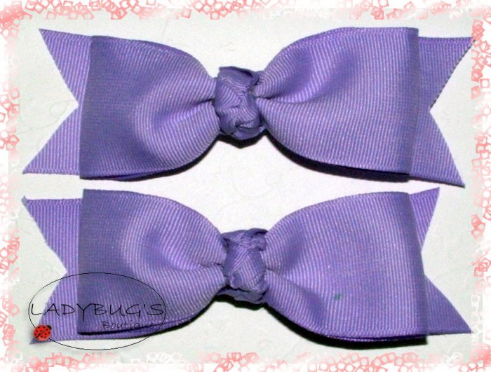Custom Boutique hairbows - lavender