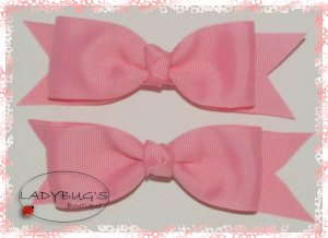 Custom Boutique hairbows - Baby Pink