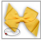 "4"" Custom Boutique hairbow - Yellow  * French Barrette"