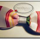 "4"" Custom Boutique hairbow - Preppy stripes"