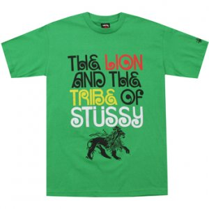 STUSSY Lion And The Tribe Tee - Green