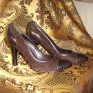 Women's Nine West 8 1/2 M Cocoa Suede Pumps (4 in heel)