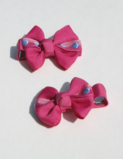 New 2 BOUTIQUE Hair clips Hair bows Hot PINK BOWS Hair accessories www.absolutelydaisy.ecrater.com