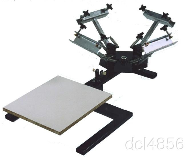 4 COLOR 1 STATION  TABLE TOP SCREEN PRINTING PRESS
