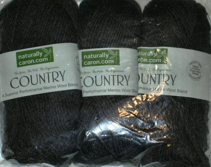 Naturally Caron Country Yarn 3 oz skein ~ Charcoal 0016
