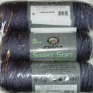 Caron Simply Soft Heather Yarn 5 oz Skein - Denim Heather 9504