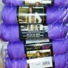 Caron Simply Soft Brites Yarn No Dye Lot 3 oz Skeins ~ Grape 2610