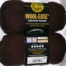 Lion Brand Wool Ease Worsted Weight 1 skein ~ Chocolate Brown 620-126