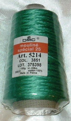 DMC Floss Cone 100 Gram 450 Yards #5214-3851 Light Bright Green