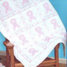 Jack Dempsey Stamped Lap Quilt Top ~ Ribbons 94060