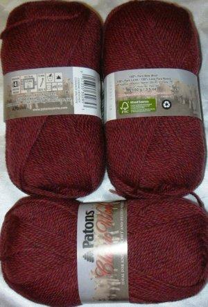 Patons Classic Wool Merino Worsted 1 Skein ~ Cognac Heather 77532