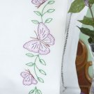 Jack Dempsey Stamped Pillowcases White Perle Edge ~ Butterflies 1600-307