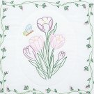 Jack Dempsey White Quilt Blocks ~ Tulips 732-341