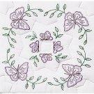 Jack Dempsey White Quilt Blocks ~ Interlocking Circle of Butterflies 732-307