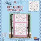 Jack Dempsey White Quilt Blocks ~ XX Posie Garden 732-412