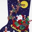 Janlynn JUMBO Felt Applique Stocking Kit ~ Over The Rooftops 089-0114
