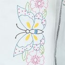 Jack Dempsey Stamped Pillowcases White Perle Edge ~ Butterfly & Flowers 1600-551