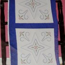 Jack Dempsey White Quilt Blocks ~ Star & Flowers 732-390