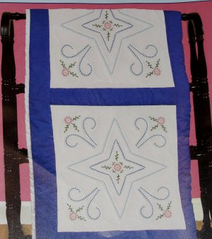Jack Dempsey White Quilt Blocks ~ Star & Flowers 732-390