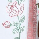 Jack Dempsey Stamped Pillowcases White Hemstitch Edge ~ Long Stem Rose 1100-134
