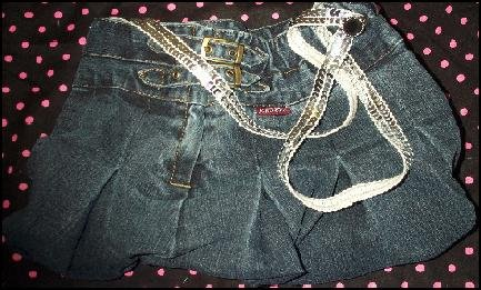 Handcrafted Silver Sequined Jean Skirt Purse
