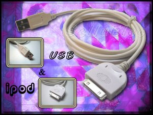 USB 2.0 DATA CABLE for iPod NANO, Video, Mini etc.