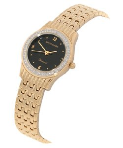 Pierre Cardin Women's Black Dial Diamond Watch