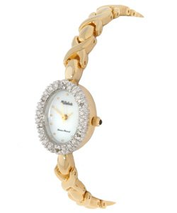 Lucien Piccard Dufonte Women's Goldtone Diamond Watch