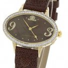 JLO Goldtone Oval Watch