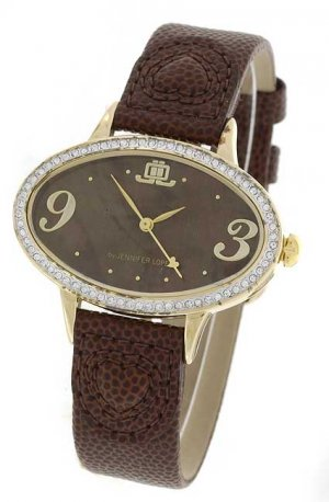 JLO Goldtone Oval Watch