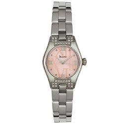 Bulova Women's Pink Dial Diamond Watch