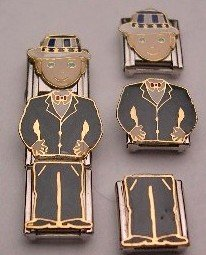 3 PIECE BLAKE DOLL ITALIAN CHARM GUY BOY MIX & MATCH
