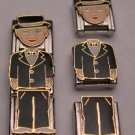 3 PIECE MICHAEL DOLL ITALIAN CHARM BOY GUY MIX & MATCH