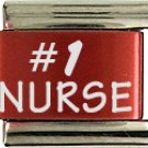 #1 NURSE COLOR LASER ITALIAN CHARM/CHARMS FOR ZOPPINI