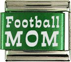 FOOTBALL MOM COLOR LASER ITALIAN CHARM/CHARMS