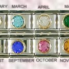 SEPTEMBER CZ SAPHIRE BIRTHSTONE ITALIAN CHARM/CHARMS