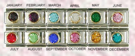 MAY CZ EMERALD BIRTHSTONE ITALIAN CHARM/CHARMS